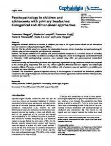 Psychopathology in children and adolescents with ... - SAGE Journals