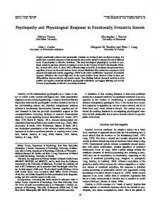 Psychopathy and Physiological Response to ... - Semantic Scholar