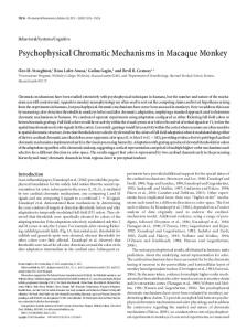 Psychophysical Chromatic Mechanisms in ... - Semantic Scholar