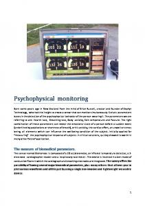 Psychophysical monitoring