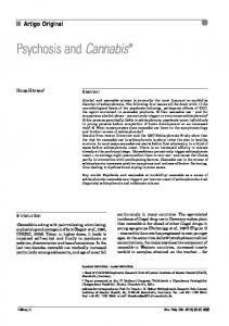 Psychosis and Cannabis - Semantic Scholar