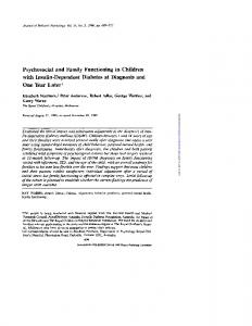 Psychosocial and Family Functioning in Children with ...