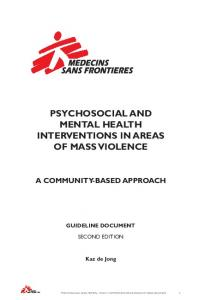 Psychosocial And Mental Health Interventions In Areas Of Mass