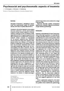 Psychosocial and psychosomatic aspects of insomnia