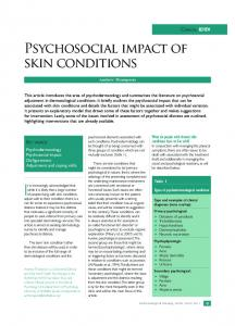Psychosocial impact of skin conditions
