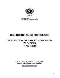 psychosocial interventions evaluation of unicef supported projects