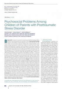 Psychosocial Problems Among Children of Parents with ... - eJManager