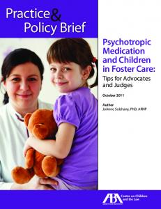 Psychotropic Medication and Children in Foster Care