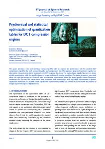 Psychovisual and statistical optimization of ... - Semantic Scholar