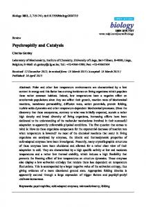 Psychrophily and Catalysis - MDPI
