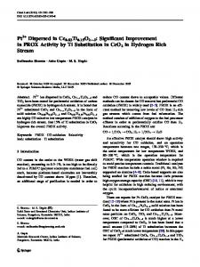 Pt Dispersed in Ce0.83Ti0.15O22d: Significant ... - Springer Link