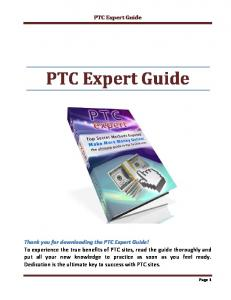 PTC Expert Guide - Weebly
