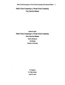 Public Cloud Computing vs. Private Cloud Computing: How Security ...