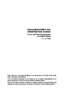 public employment and redistribution in spain - ief