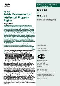 Public enforcement of intellectual property rights - CiteSeerX