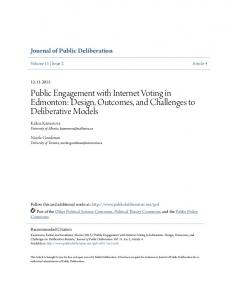 Public Engagement with Internet Voting in ... - Public Deliberation