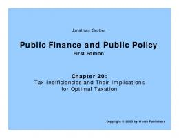 Public Finance and Public Policy - MIT