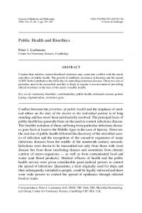 Public Health and Bioethics