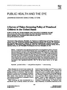 public health and the eye - Perelman School of Medicine - University