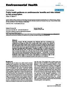 Public health guidance on cardiovascular benefits and risks related to ...