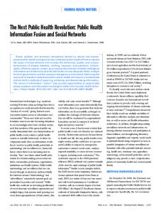 Public Health Information Fusion and Social Networks
