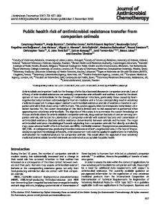 Public health risk of antimicrobial resistance transfer ... - Oxford Journals