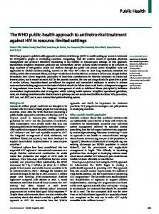 Public Health The WHO public-health approach to antiretroviral ...