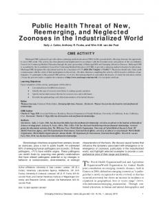 Public Health Threat of New, Reemerging, and Neglected Zoonoses ...