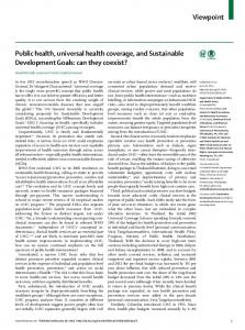 Public health, universal health coverage, and Sustainable ...