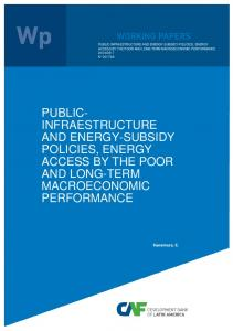 public- infraestructure and energy-subsidy policies, energy ... - Scioteca