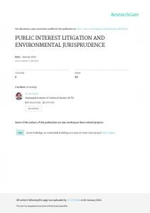 public interest litigation and environmental ...