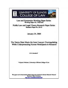 Public Law and Legal Theory Research Paper Series ... - SSRN papers