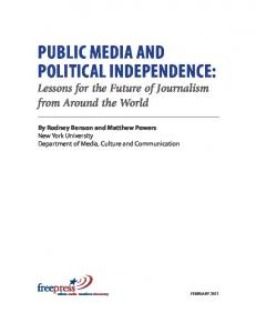 public media and political independence - Free Press