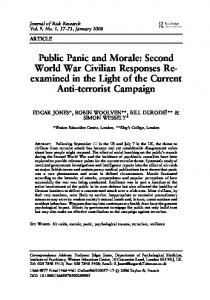 Public Panic and Morale: Second World War