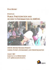 public participation and access to information in amdal - World Bank ...