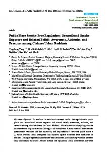 Public Place Smoke-Free Regulations, Secondhand ... - BioMedSearch