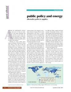 public policy and energy - IEEE Xplore