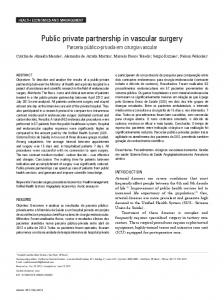 Public private partnership in vascular surgery - SciELO