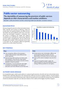 Public-sector outsourcing - IZA World of Labor