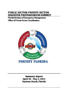 public sector-private sector disaster preparedness summit