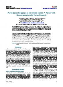 Public Sector Responses to Jail Mental Health - Scientific Research ...