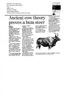 Publication: Irish Independent Date: Wednesday, May 23, 2007 ...