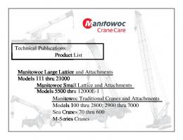 Publication List Cover.pmd - Manitowoc Cranes