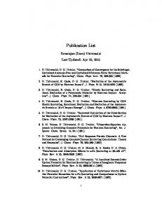 Publication List - D Thirumalai