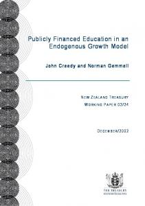 Publicly Financed Education in an Endogenous Growth Model