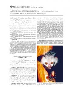 Published 13 July 2004 by the American Society of Mammalogists