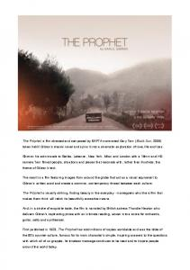 published The Prophet - The Prophet film