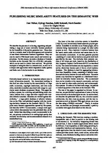 publishing music similarity features on the ... - Semantic Scholar
