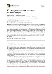 Publishing Patterns in BRIC Countries: A Network Analysis - MDPI