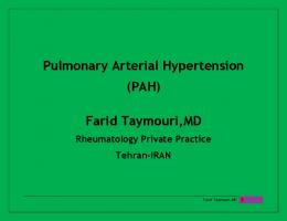 Pulmonary Arterial Hypertension (PAH) Farid ...